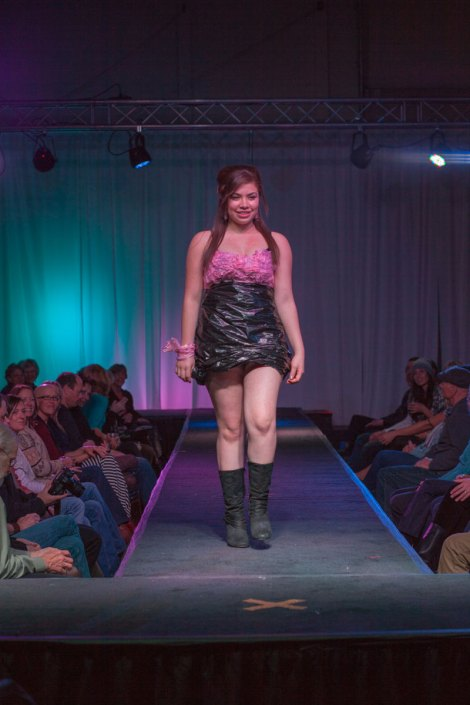 Designer: Yolanda Savellano Materials: Plastic bags