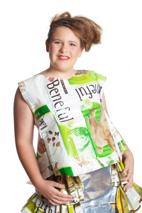 Designer: Jessica Browning Materials: Plastic dog food bags
