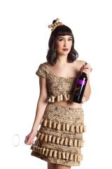 Designer: Denise Oldridge Materials: Plastic shopping bags & corks