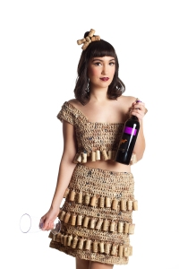 Designer: Denise Oldridge Materials: Plastic shopping bags & corks