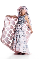 Designer: Paula Bullwinkel Materials: Old Curtain & photo photocopies