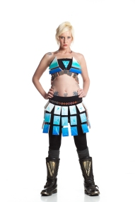 Designer: Tiina McDermott & Zoelane Materials: Skate board parts