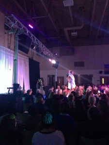 Runway snapshot at the Armory.  Sonic Solutions set the mood with stage, lighting and sound.