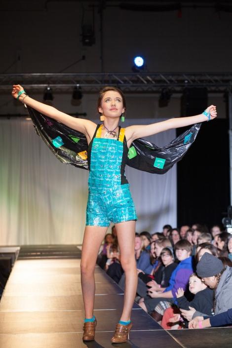 T-Time Designer & Model: Lily McNabb Materials: Tea bag wrappers