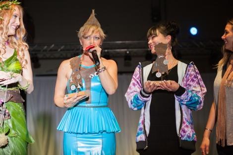 Stringsoil winning the Coveted Trash Trophy. NatashaSpekktor Designer.